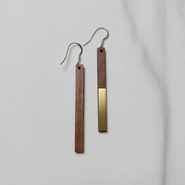 Metal Zelda Drop Earrings | 結婚記念日プレゼント | ピアス | 木婚式 | 銅婚式 | 鋼婚式 |