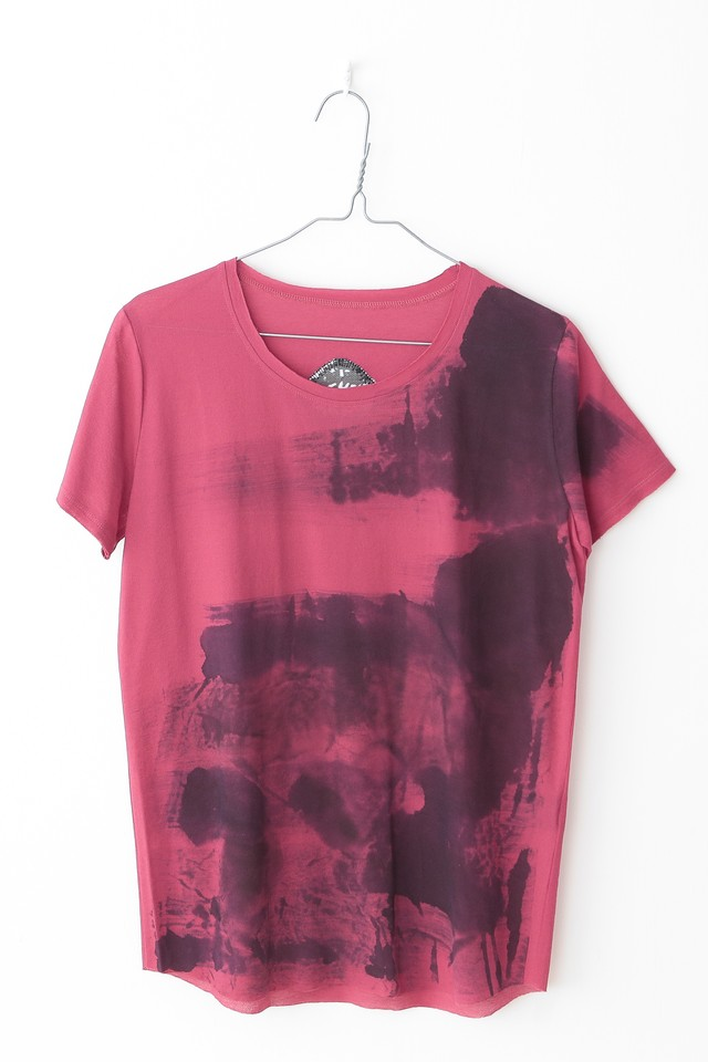 T-shirt【COTTON コットン】[Hand Painted]PINKCS2116[税/送料込み]