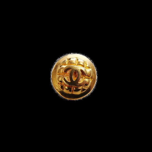 【VINTAGE CHANEL BUTTON】キルティング風 ココマーク ボタン 18mm