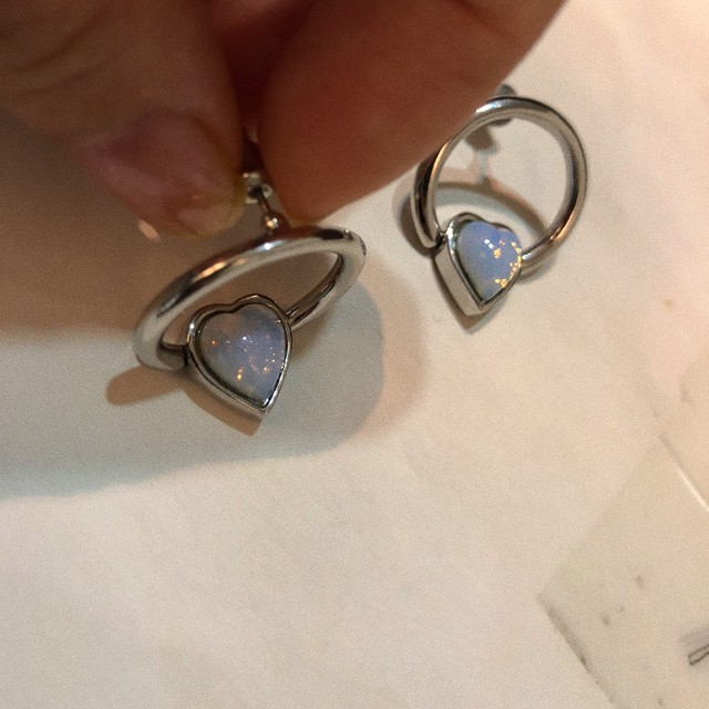 HEART BEADS RING earring LA18011P 片耳