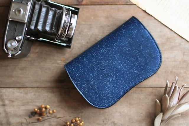 藍染革[migaki]二つ折り財布 【数多】