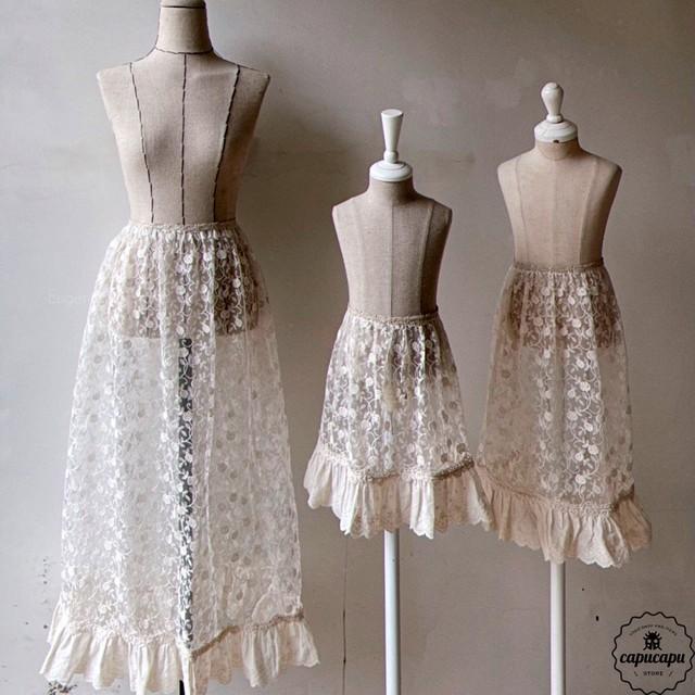 «予約» rosie Lace apron 3size ロージーエプロン