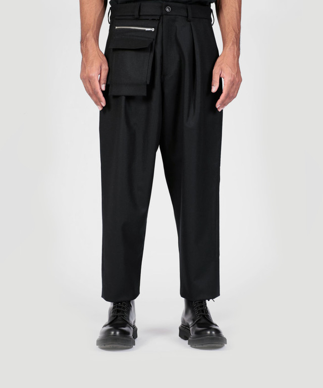 Lownn Utility Trousers Wool Black  19AW-LOW-UT-WOOL