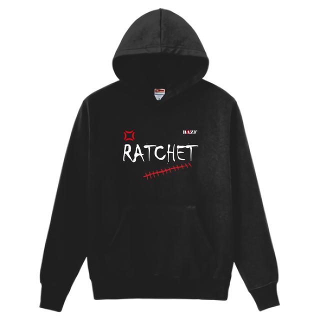 RATCHET 8.4oz 裏起毛プルパーカー(黒)