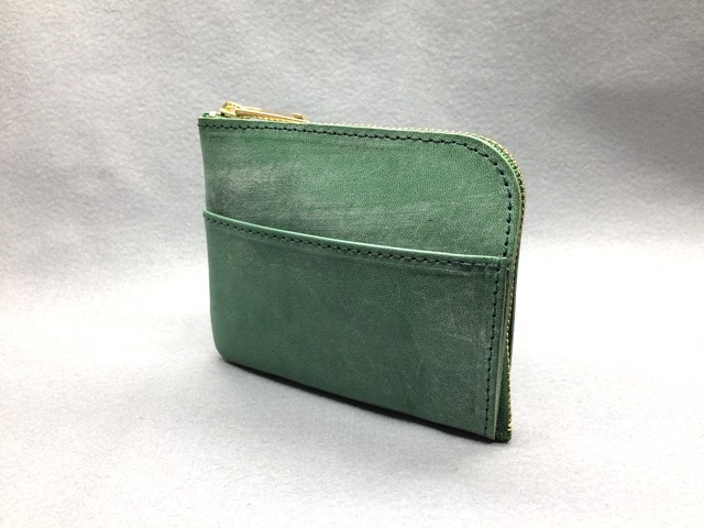 L-type mini wallet (bridle leather) Color: Green