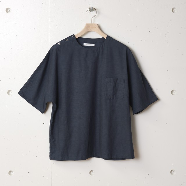 tilt The authentics / Dolman Sleeve Half T Shirt[Charcoal Navy]