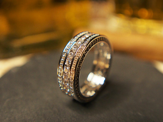 CHANNEL SET 360 ETERNITY BAND RHODIUM CZ RING