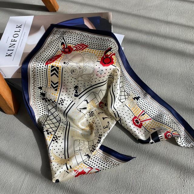 vintage pattern scarf(3/17na-14)