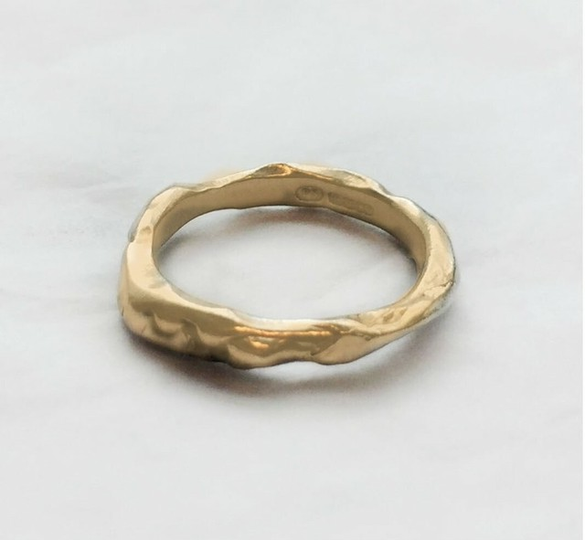 Molten Ring 18Ct Gold