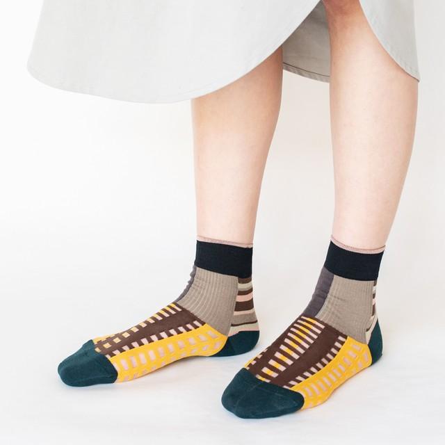 【COQ textile】ミックスファーム・ソックス(グレー)