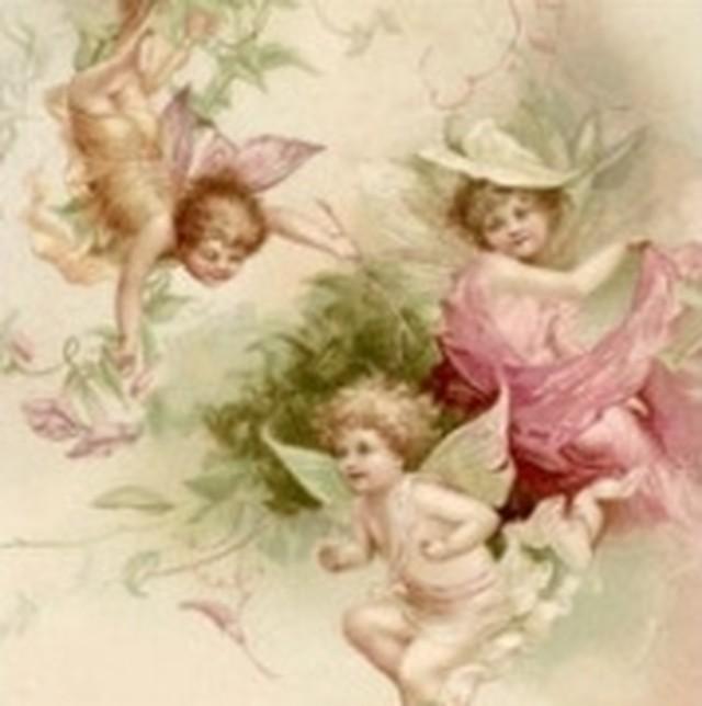 【Sagen Vintage Design】バラ売り2枚 ランチサイズ ペーパーナプキン FAIRIES ピンク