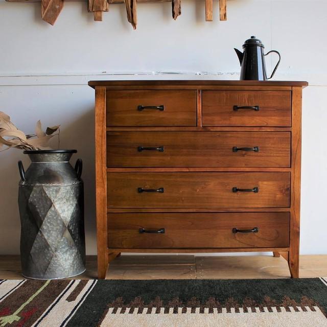 Mindy Wood Chest 800 / 北欧アンティークスタイル 木製チェスト 80cm