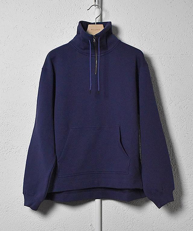 【WELLDER】《21SS》スタンドカラースウェットシャツ(NAVY) WM21SCS02