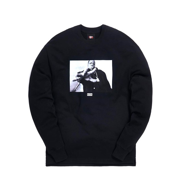 KITH × THE NOTORIOUS B.I.G. L/S T-Shirts BLACK