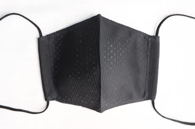 タテ絽清涼マスク子供用 黒