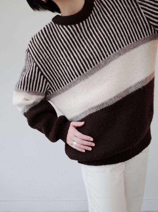 used chocolate knit