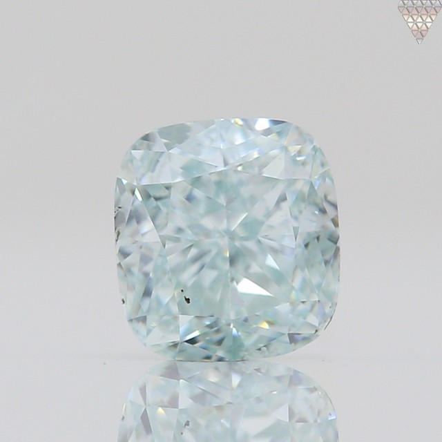 0.29 ct FANCY  BLUE-GREEN SI1 CUSHION GIA 天然  ダイヤモンド ルース