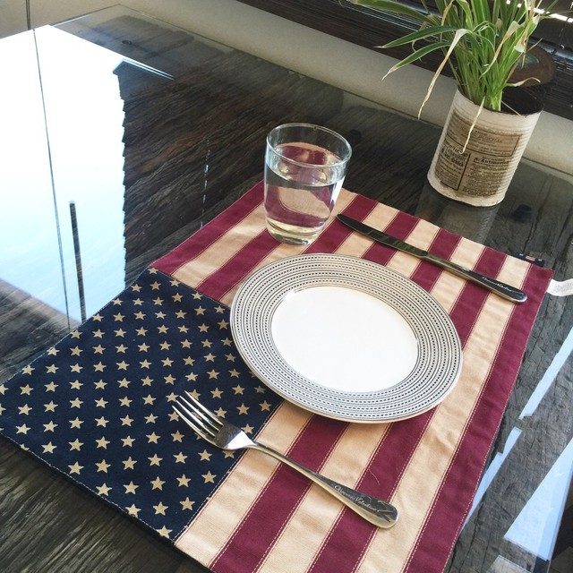 The star and stripes place mat