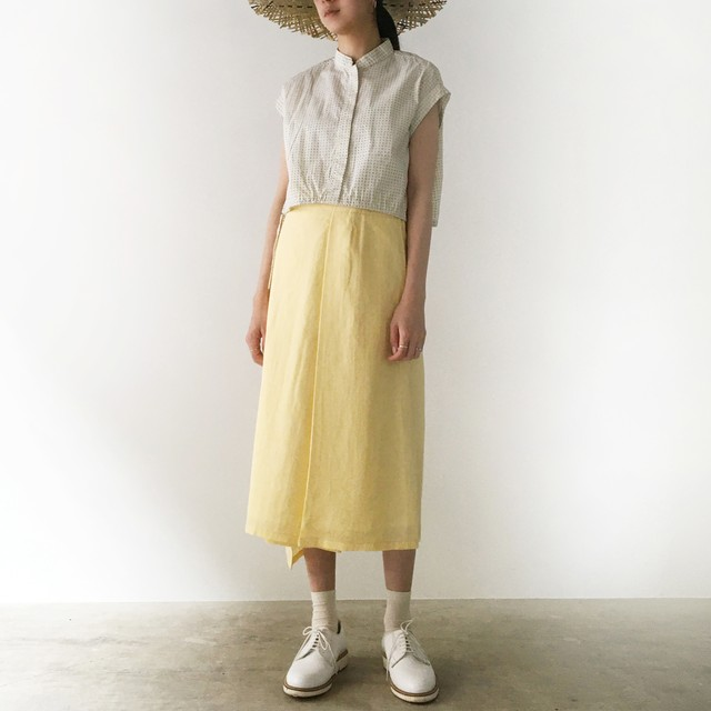 "Wrapped Skirt ""light yellow"""