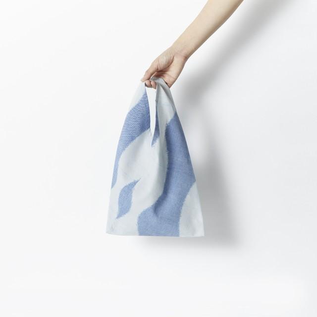 TRIANGLE TOTE BAG MINI / BLUE