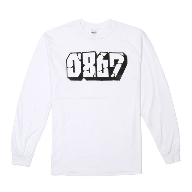 0867 / Long Sleeve T-Shirt / Blockbuster / Logo / White