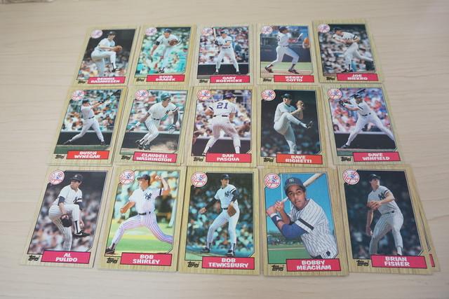 1986年クリーブランドインディアンズのベースボールカードいっぱい!フランコがいる!