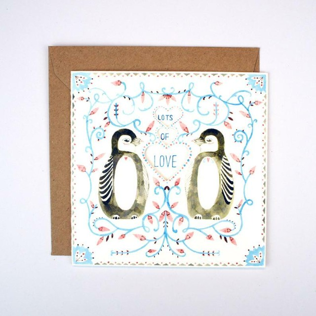 Greeting Card - Lots of Love Pengiuns