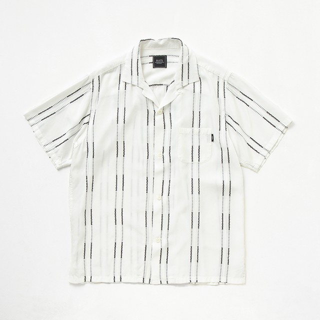 RATS(ラッツ) / WHITE STRIPE S/S SHIRT(20'RS-0605)(レーヨンシャツ)