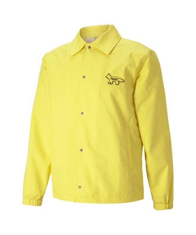 PUMA x Maison Kitsune  coach jacket lemon
