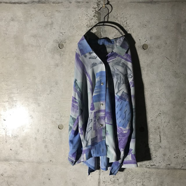 [used]water paint shirt