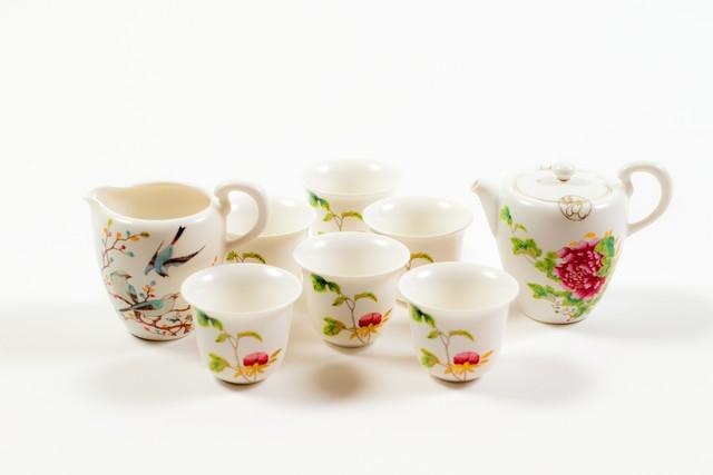 お花柄 茶器 7点セット