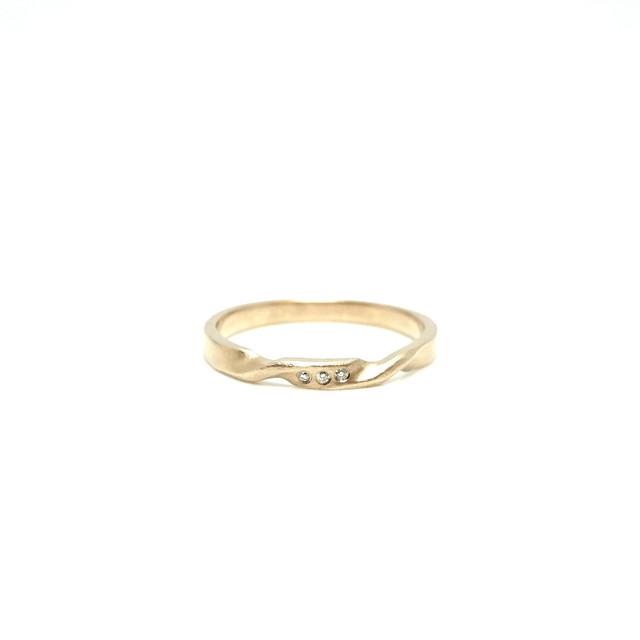 undulation ring small Dia K10YG