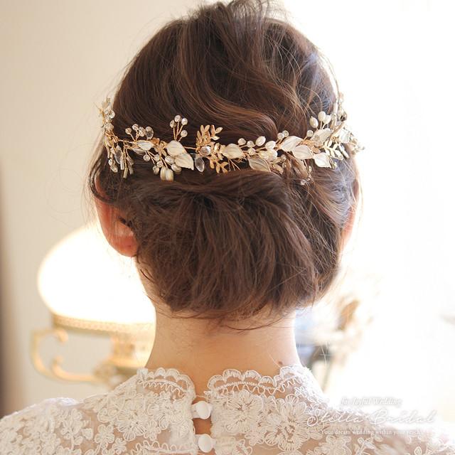 【OUTLET】ナチュラルリーフの小枝ヘッドドレス|ウェディングヘアアクセサリー
