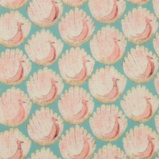 【販売終了】リバティ手帳カバー・ぺンケースセット*パッチワークストーリーズ・グリーン&オレンジ