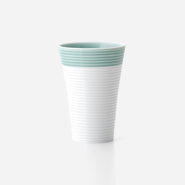 青磁白彩 フリーカップ(大)