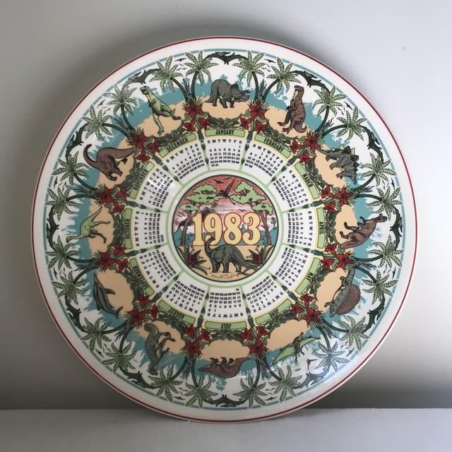 Wedgwoodのカレンダープレート1983