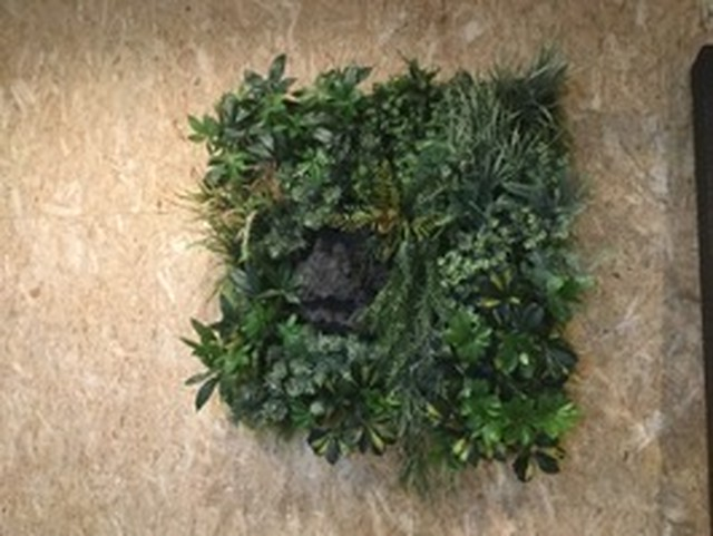 【1平米組立てキット】造花+擬岩バージョン    壁面緑化 フェイクグリーン