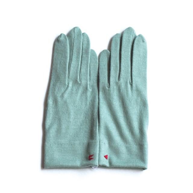 佩 手袋(116 ミントグリーン) ウール100% 手が細くキレイに見える