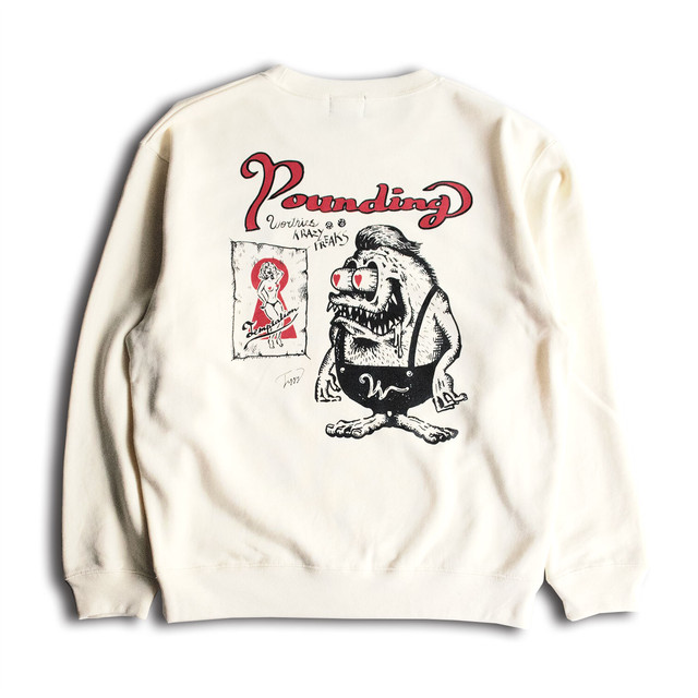 KRAZY FREAKS CREW NECK SWEAT NATURAL