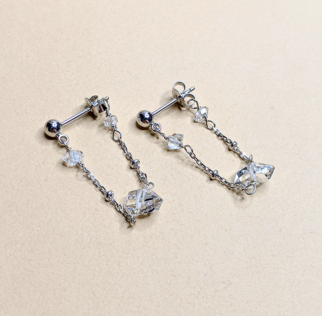 Herkimer Diamond earrings | MIHO meets RUKUS