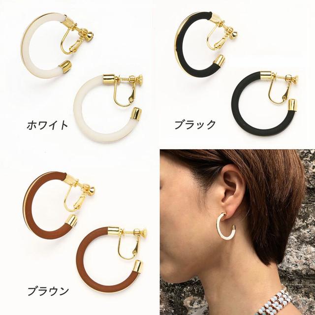 【worcolle】C型フレームデザインイヤリング(No.132601-02-03)