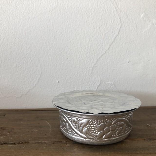南インド式 コーヒーソーサーとコースターセット[アップサイクル品]   直径:約7.5cm
