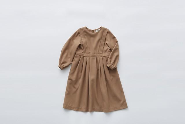 【21SS】eLfinFolk(エルフィンフォルク)ceremony dress (120/130) camel ワンピース