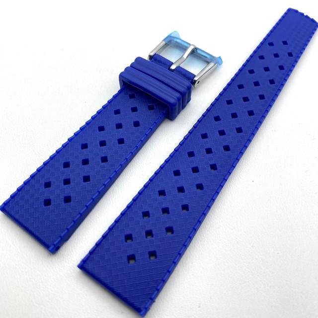 ヴィンテージ トロピック2.0 TPU 復刻ラバーベルト ペプシ・ブルー 20mm 腕時計ベルト