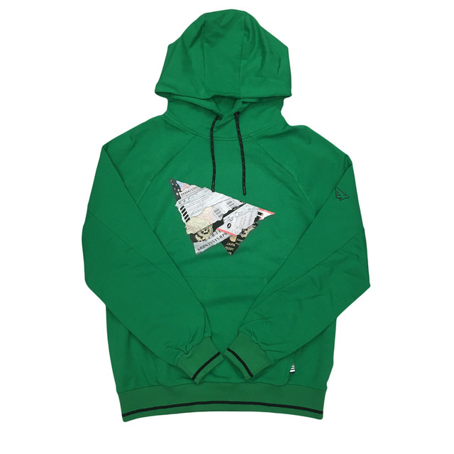 Paper Planes World Traveler Hoodie / Kelly Green