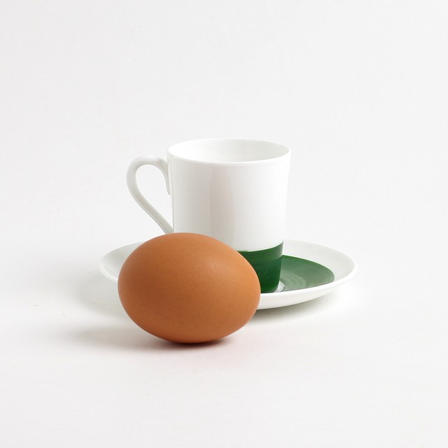 Gustavsberg  グスタフスベリ Color カラー デミタスコーヒーカップ&ソーサー(グリーン) 北欧ヴィンテージ