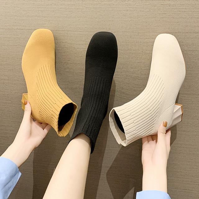 ソックスブーツ ハイカットブーツ 靴下シューズ SHS542601