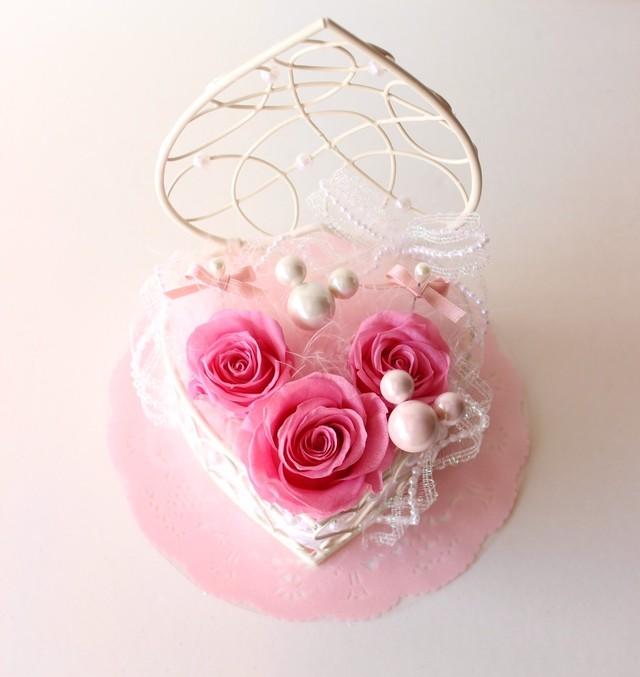 【受注制作】ピンクのミッキー風リングピロー