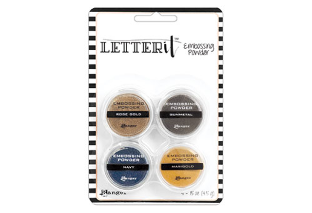Ranger Letter It Embossing Powder Set - Metallics /エンボスパウダ-セット