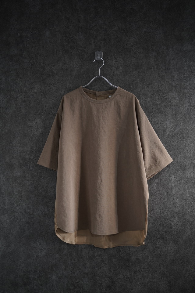 VOAAOV NATURAL WATER REPELLENT TEE  beige